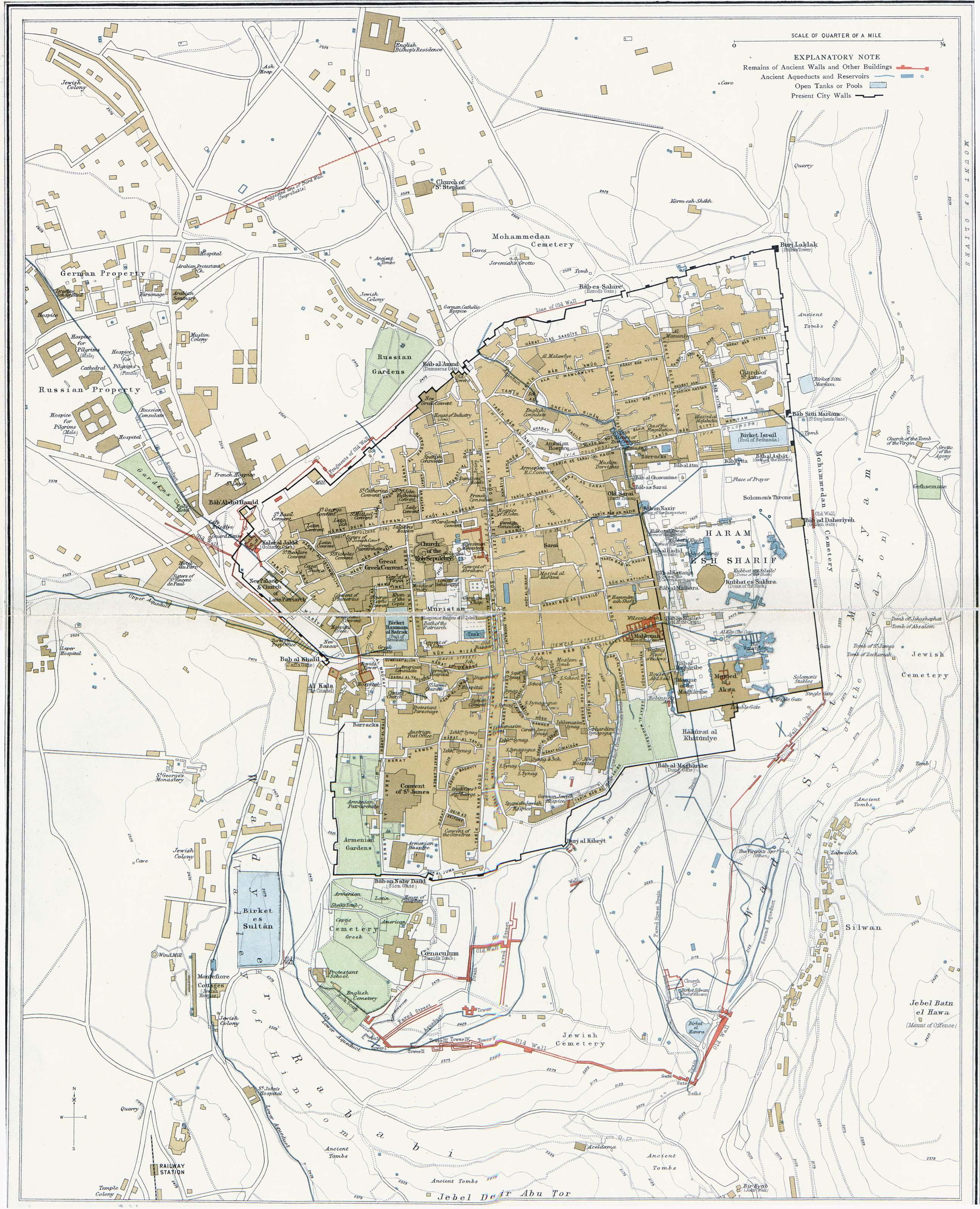 Mapa de Jerusalén 1915