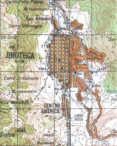Map of Jinotega, Jinotega, Nicaragua