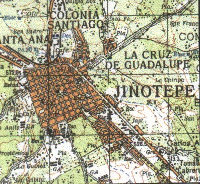 Mapa de Jinotepe, Carazo, Nicaragua