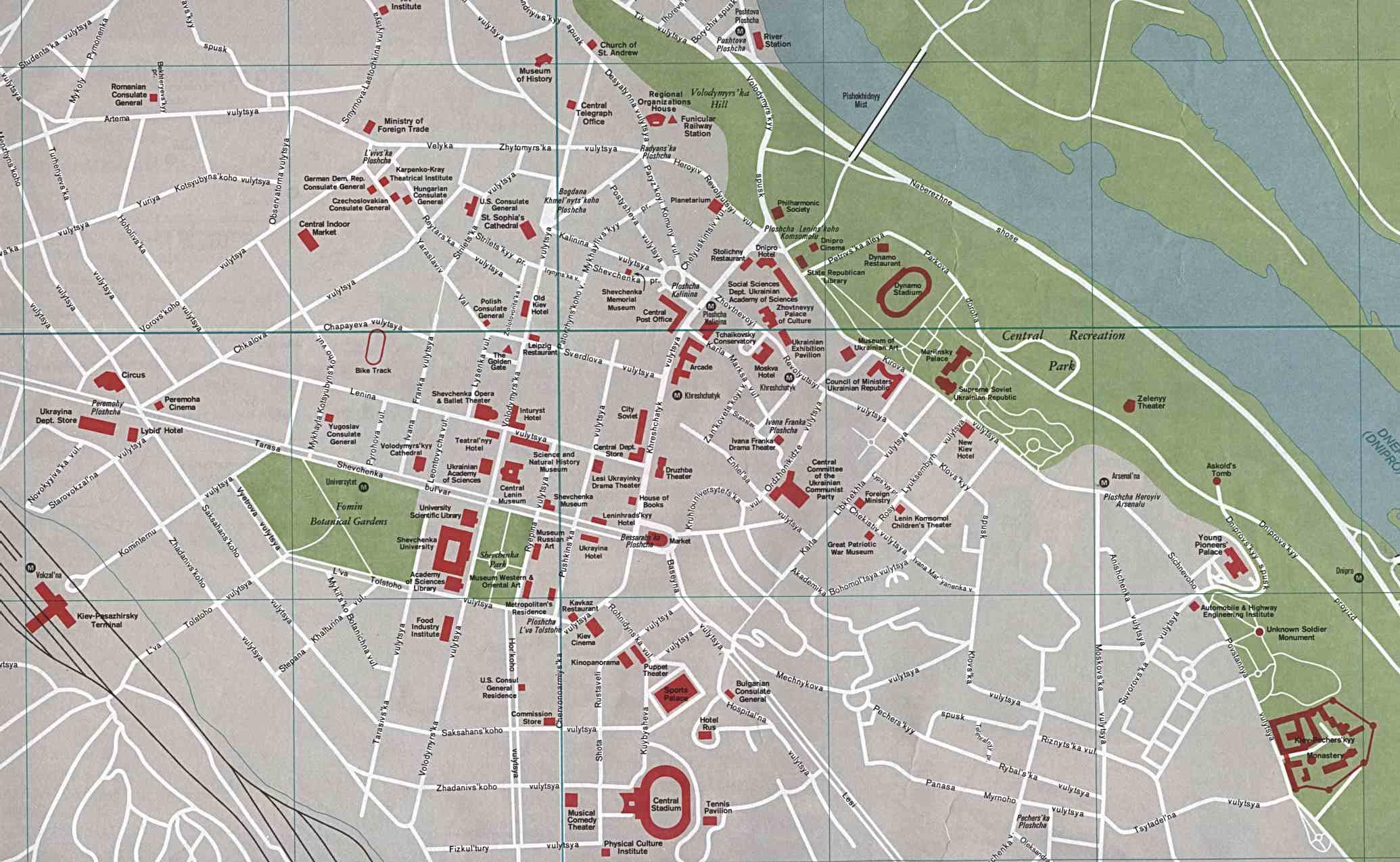 Mapa de Kiev, Ucrania