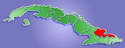 Mapa de Localización Provincia de Holguín, Cuba