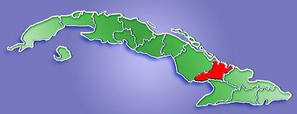 Las Tunas Province Map, Cuba