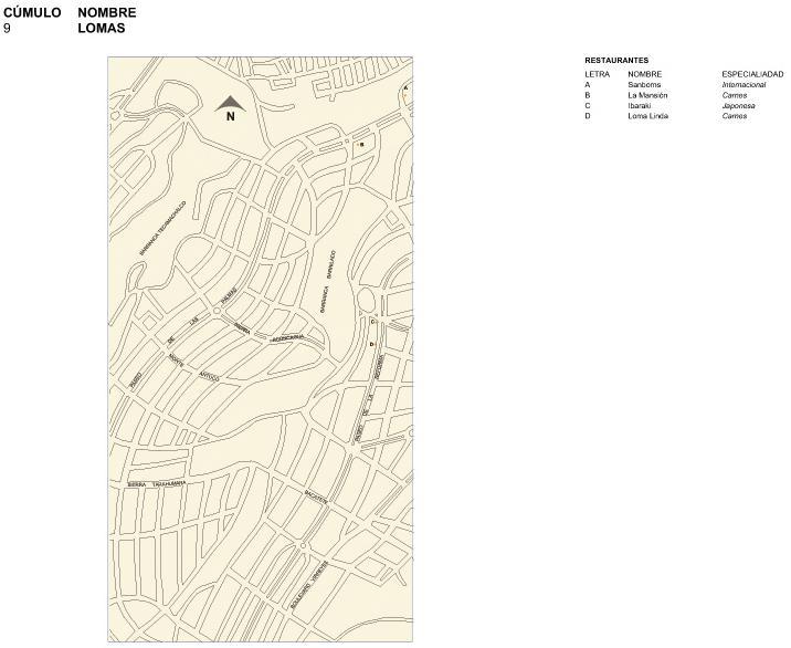 Mapa de Lomas, Mexico D.F.