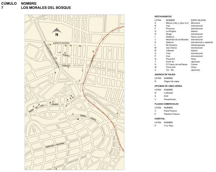 Los Morales del Bosque Map, Mexico D.F.