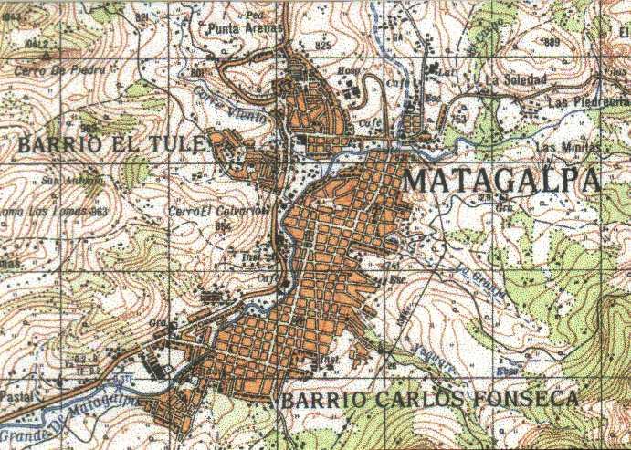 Map of Matagalpa, Matagalpa, Nicaragua