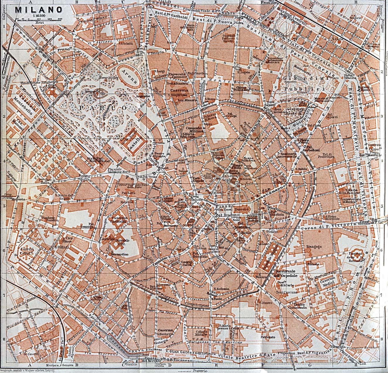 Map of milano milan map italy 1913
