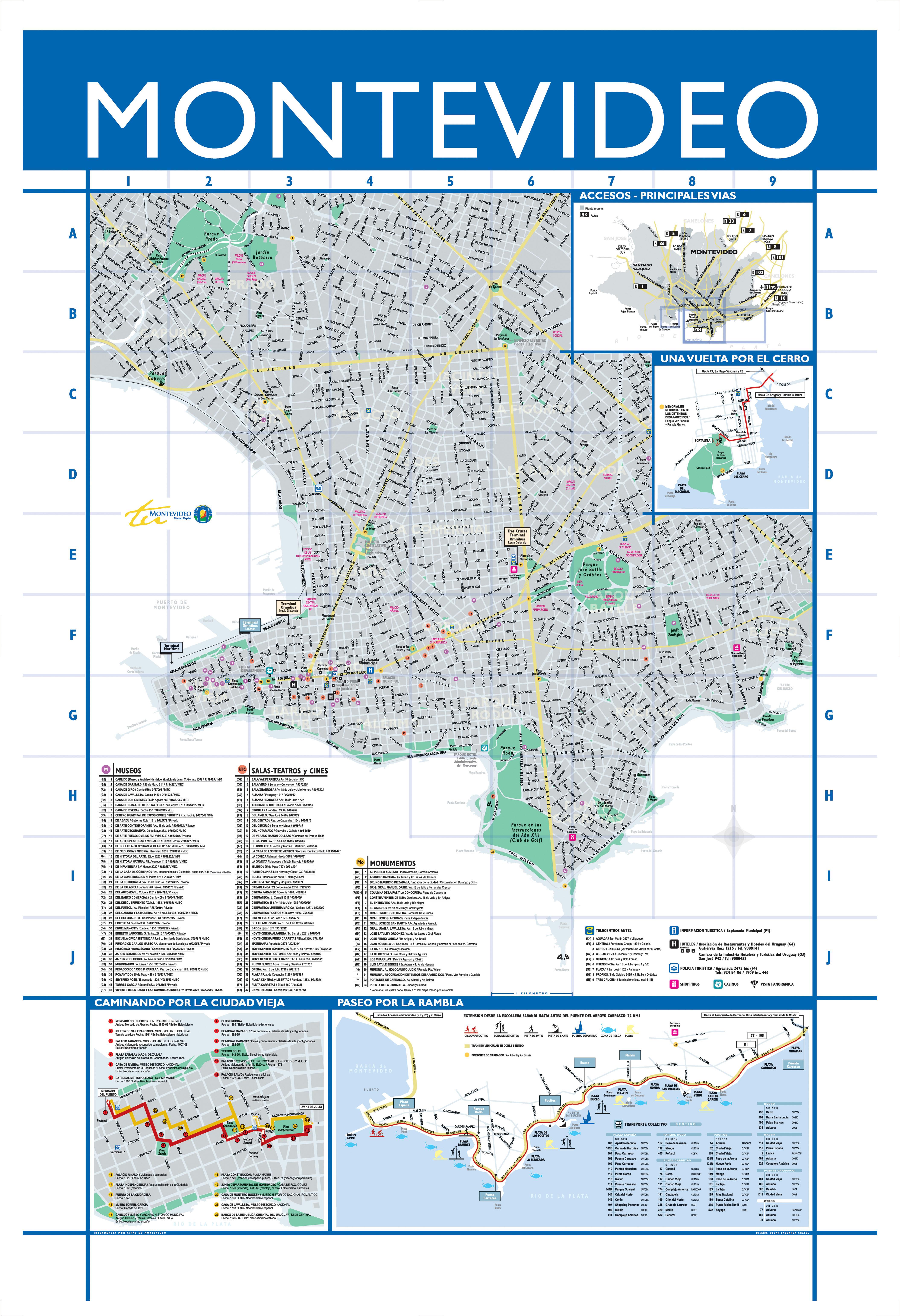 Montevideo Map, Uruguay