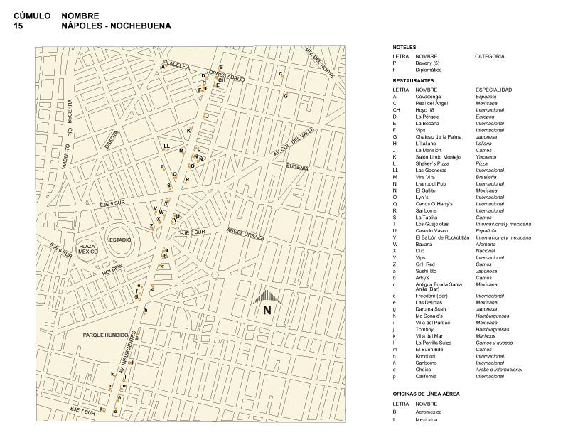 Mapa de Nápoles-Nochebuena, Mexico D.F.