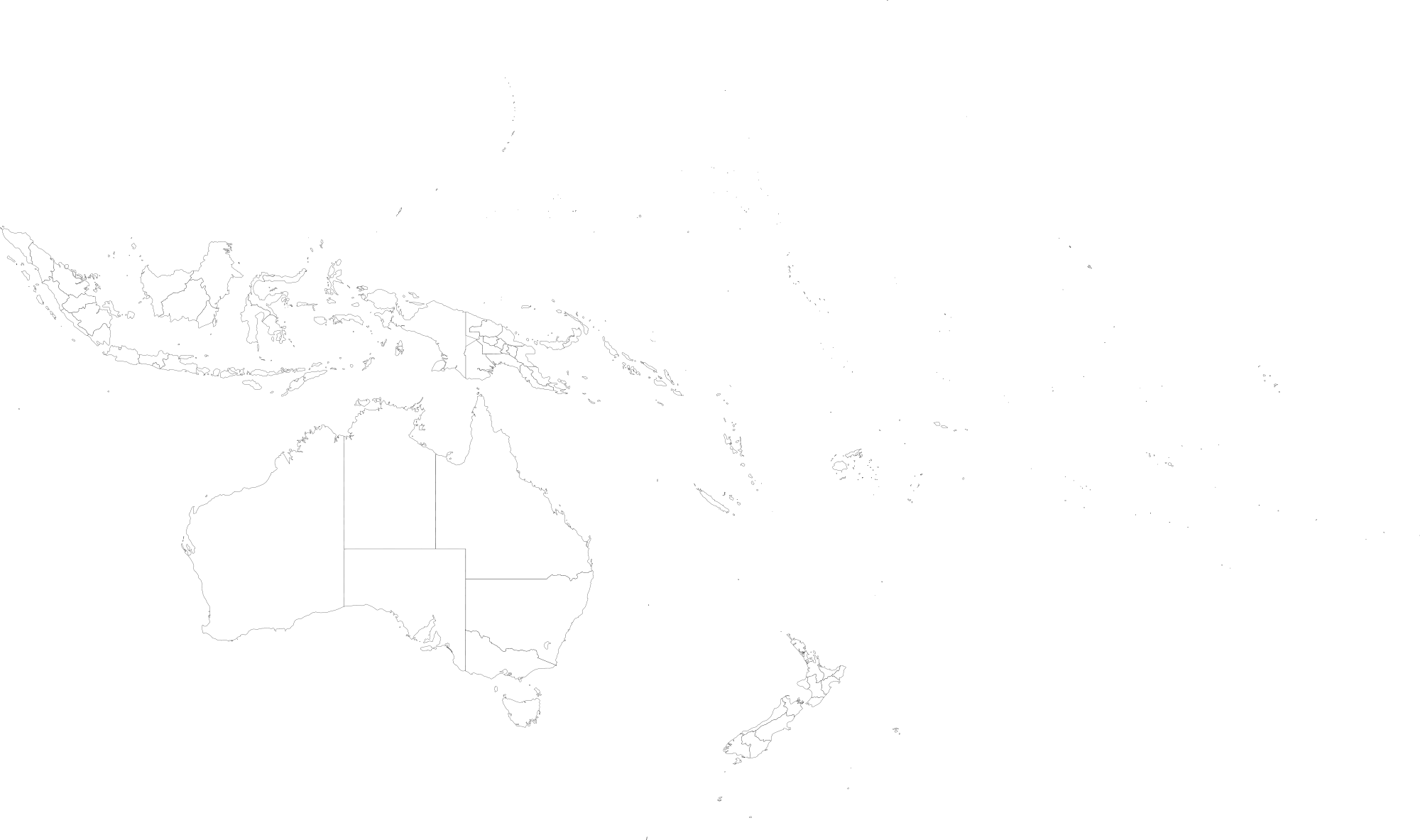 Map of Oceania as of 1998