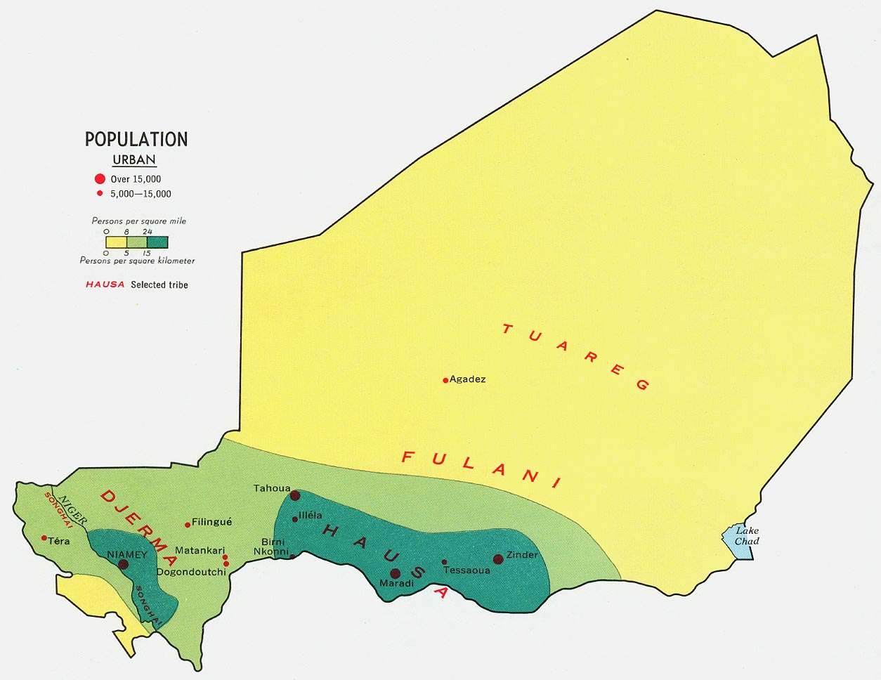 Mapa de Población de Níger