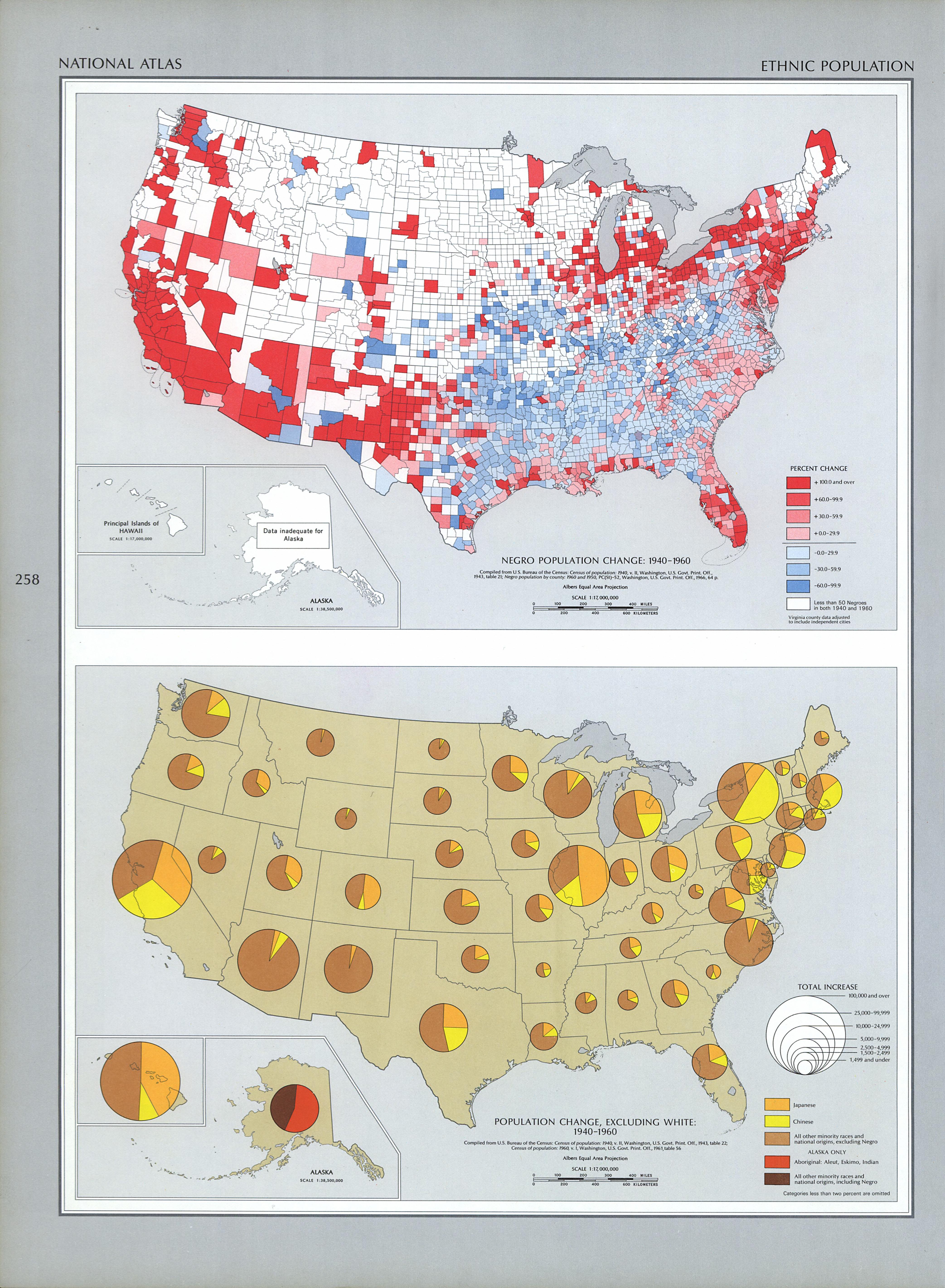Mapa de Población de Étnica en Estados Unidos