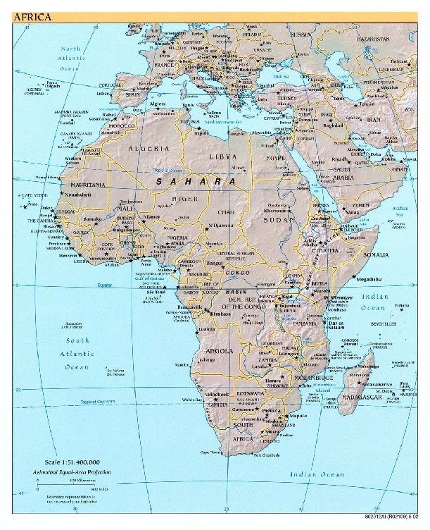 Mapa de Referencia de África