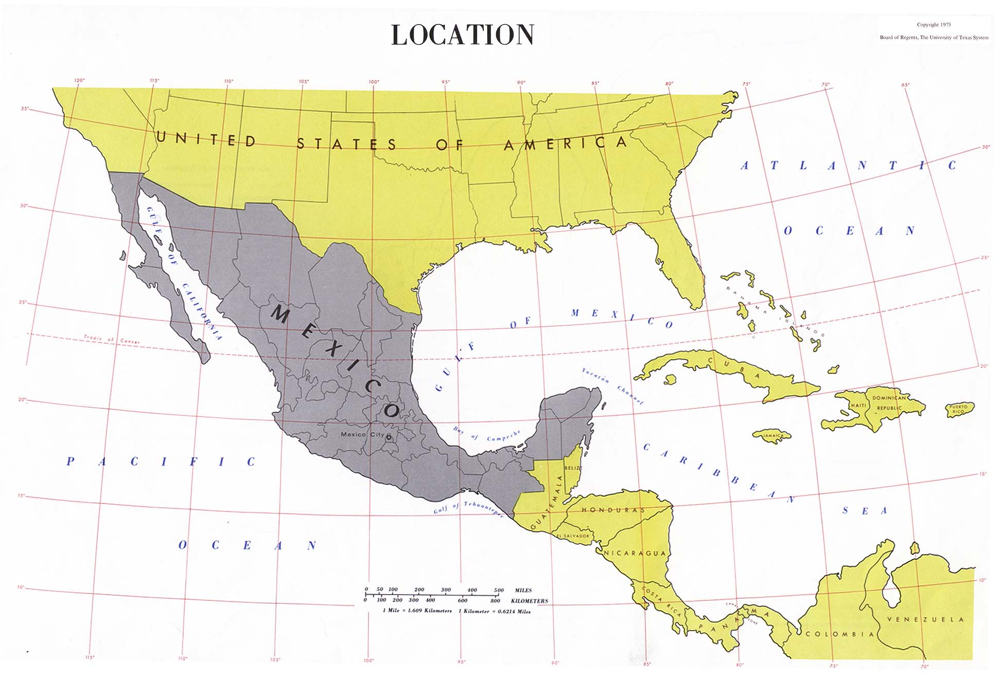 Mexico Location Map