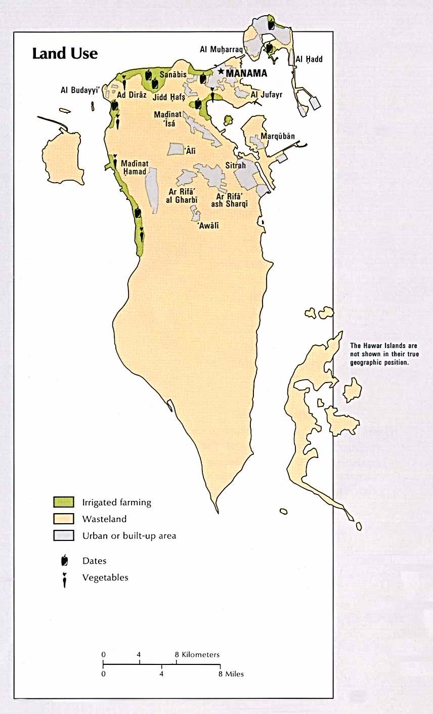 Mapa de Mapa de Uso de Suelo de Bahréin