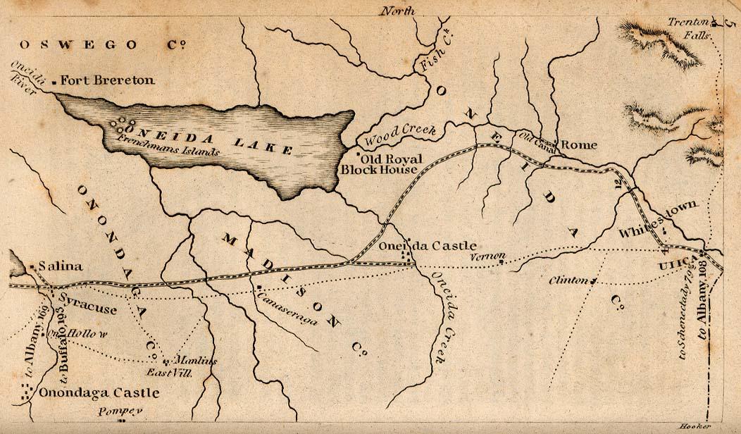 Mapa de Utica, Nueva York, Estados Unidos 1830