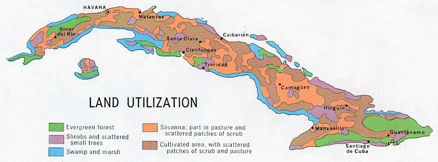 Mapa de Utilización del Suelo, Cuba