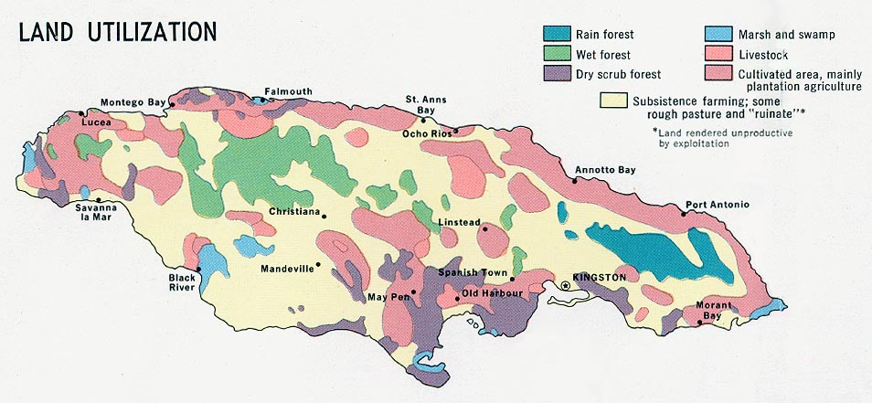 Jamaica Land Utilization Map