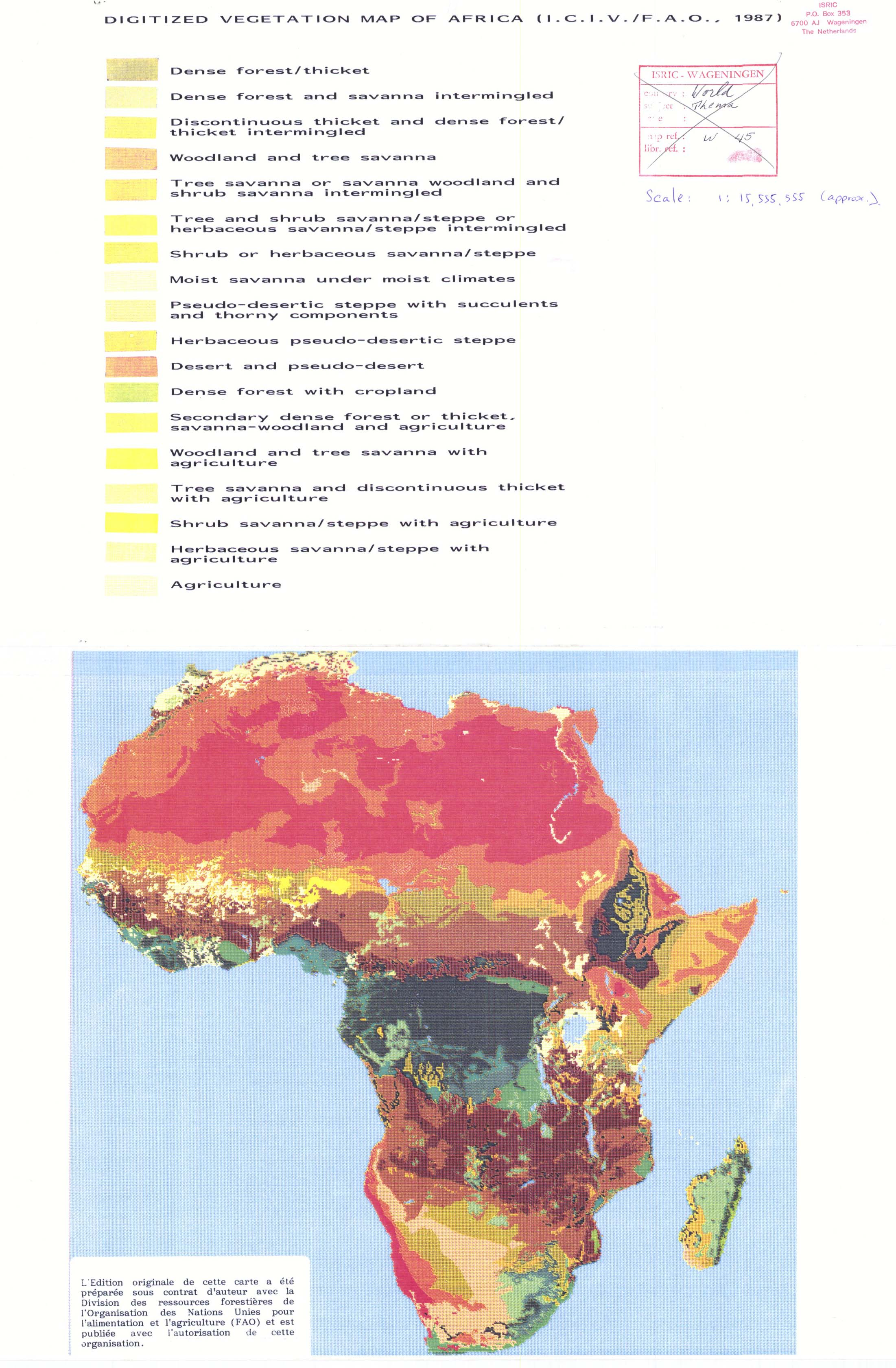 Vegetation Map of Africa 1987