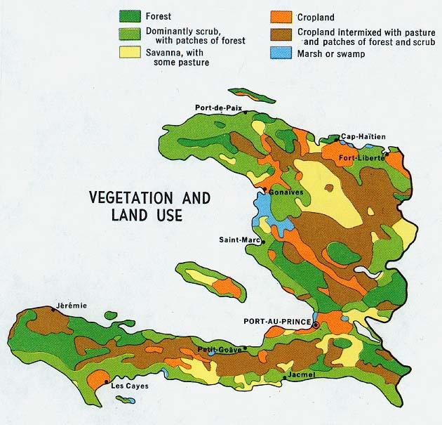 Haiti Vegetation and Land Use Map
