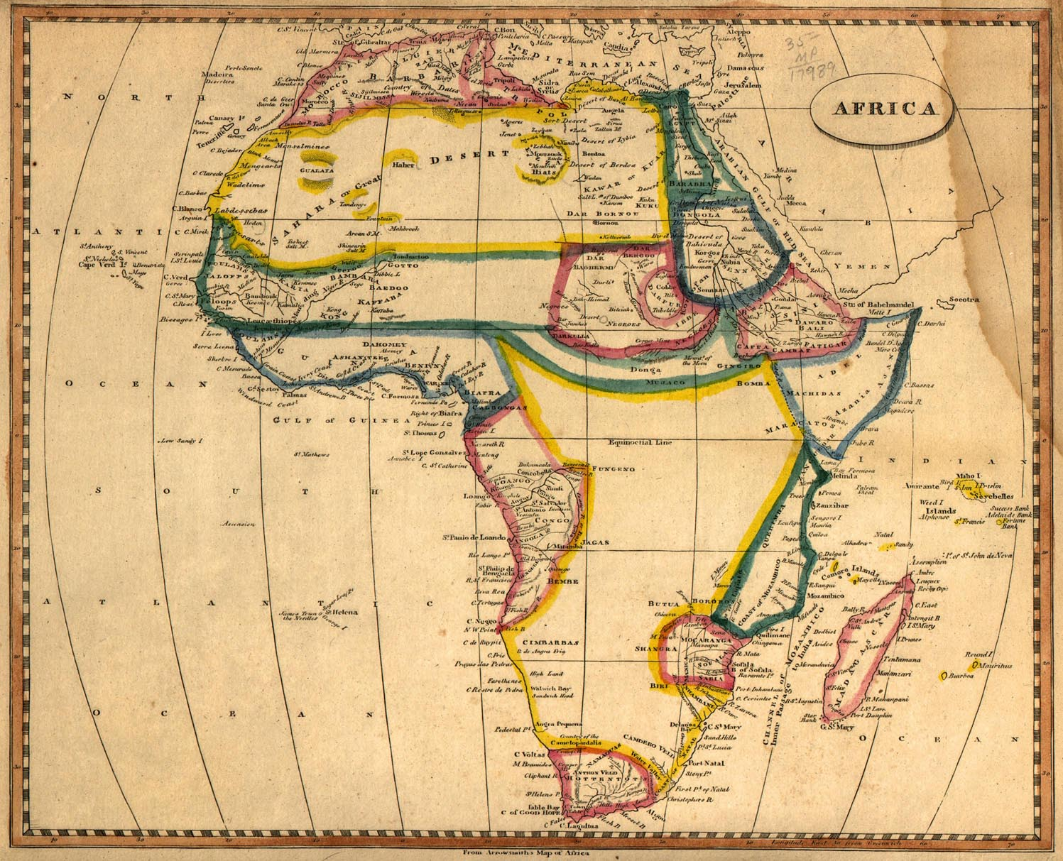 Map of Africa 1812