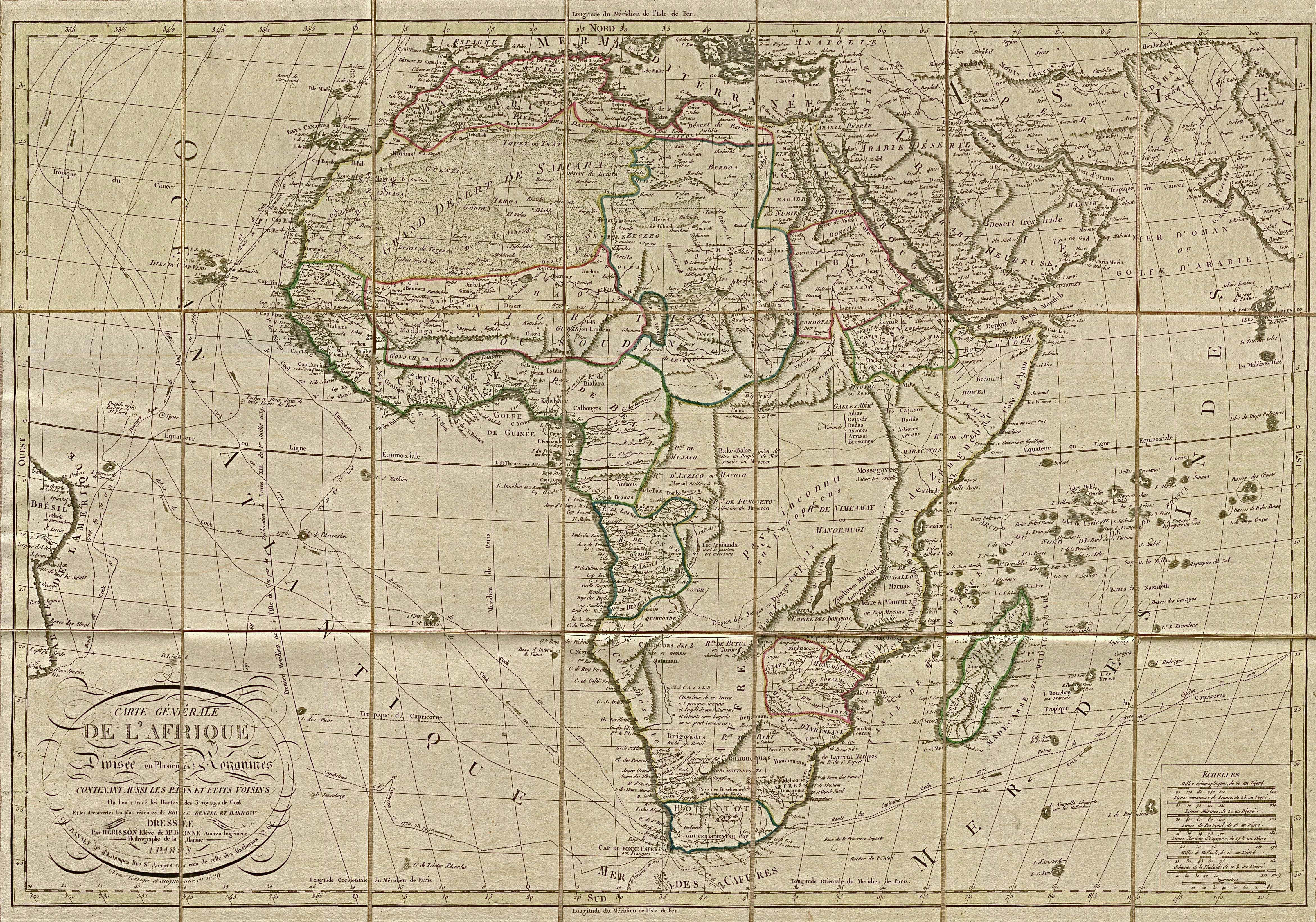 Africa Map 1829