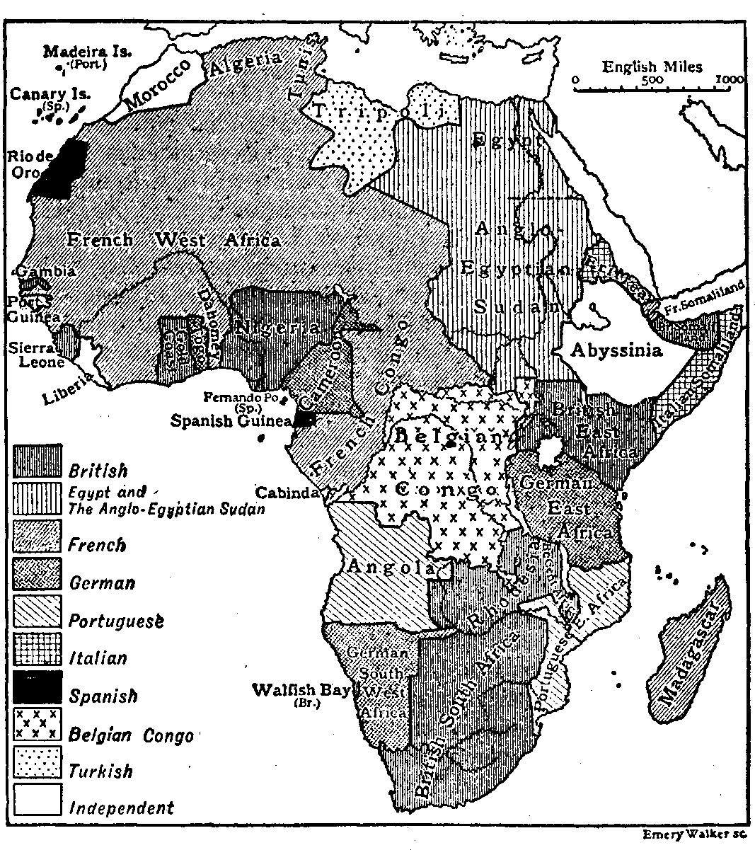 Africa map 1911