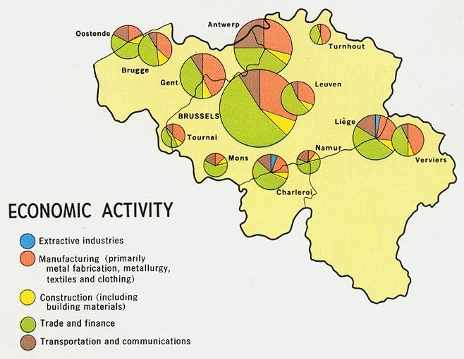Mapa de la Actividad Económica de Bélgica
