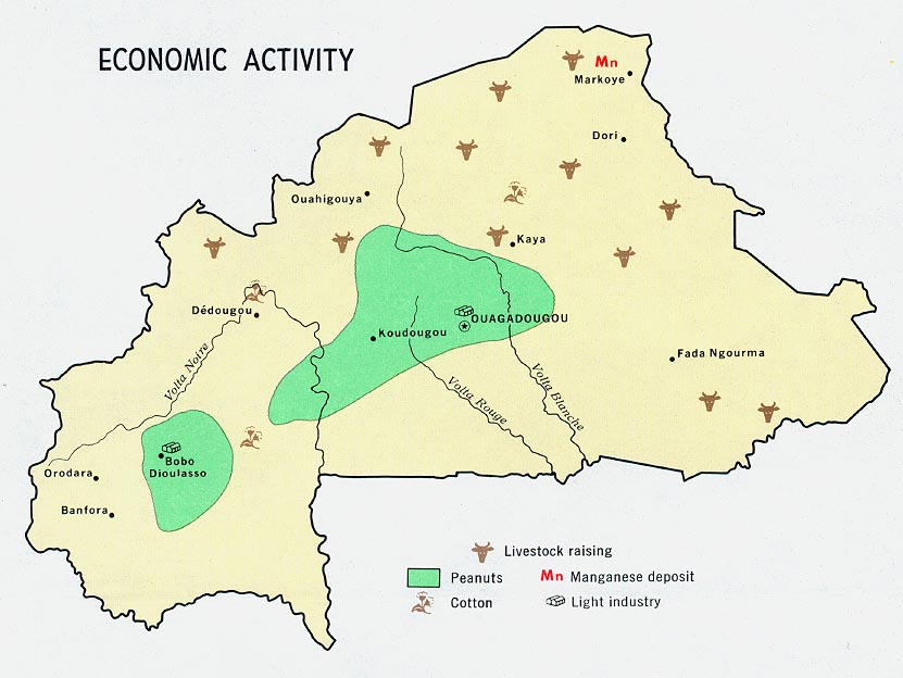 a map of burkina faso. Mapa de Burkina Faso Economic