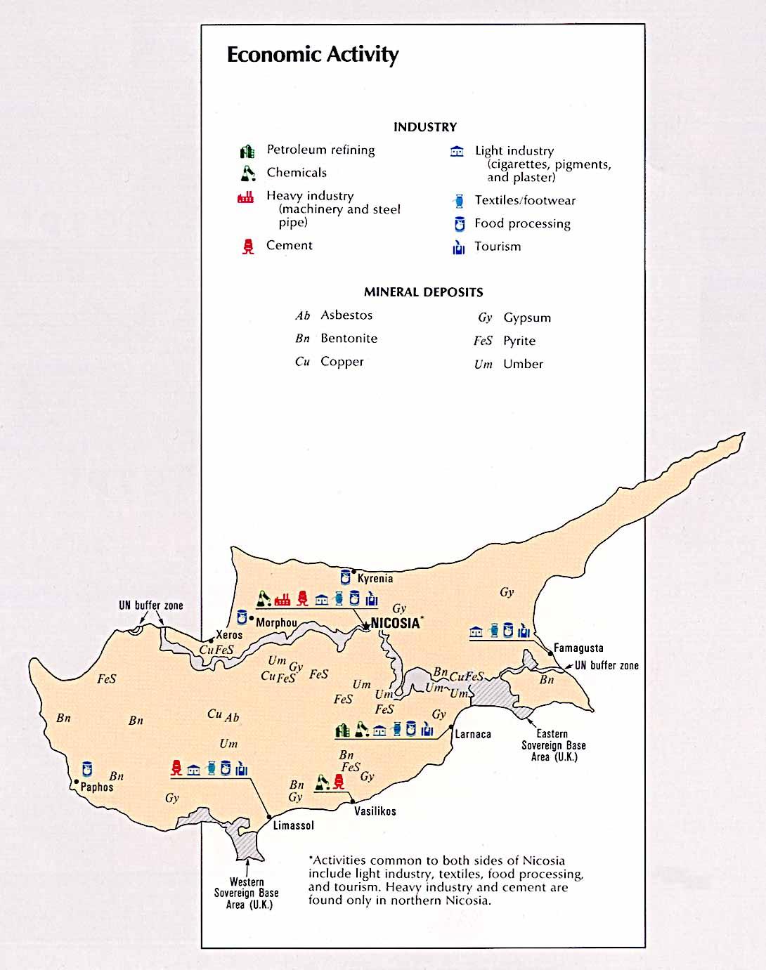 Cyprus Economic Activity Map