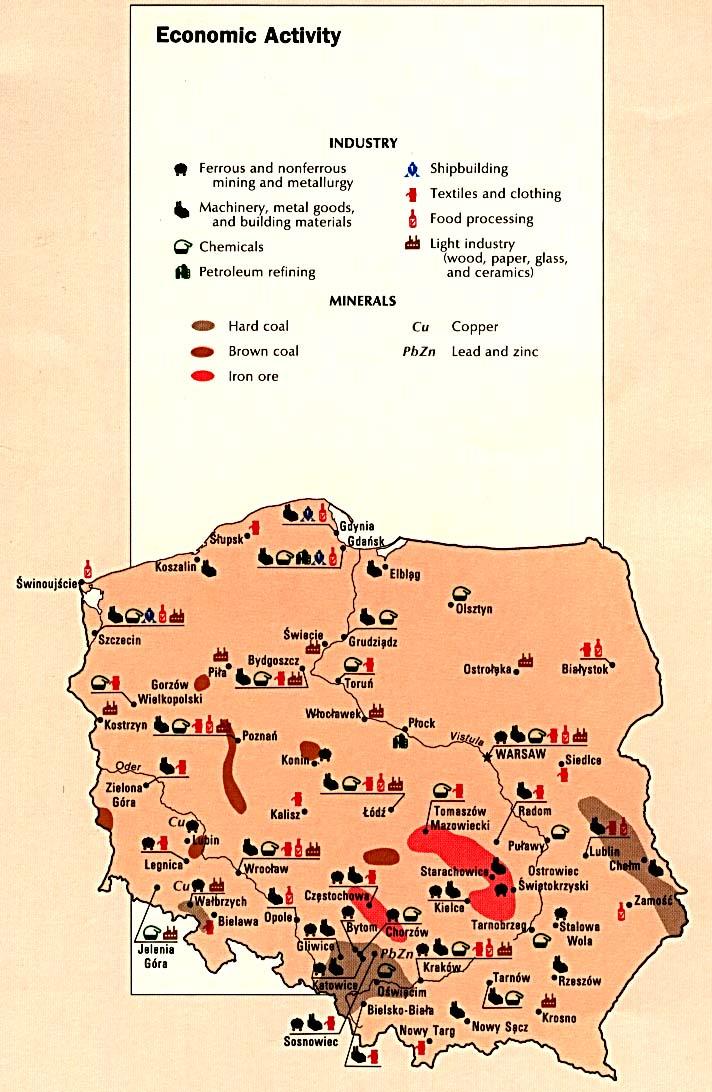 Mapa de la Actividad Económica de Polonia