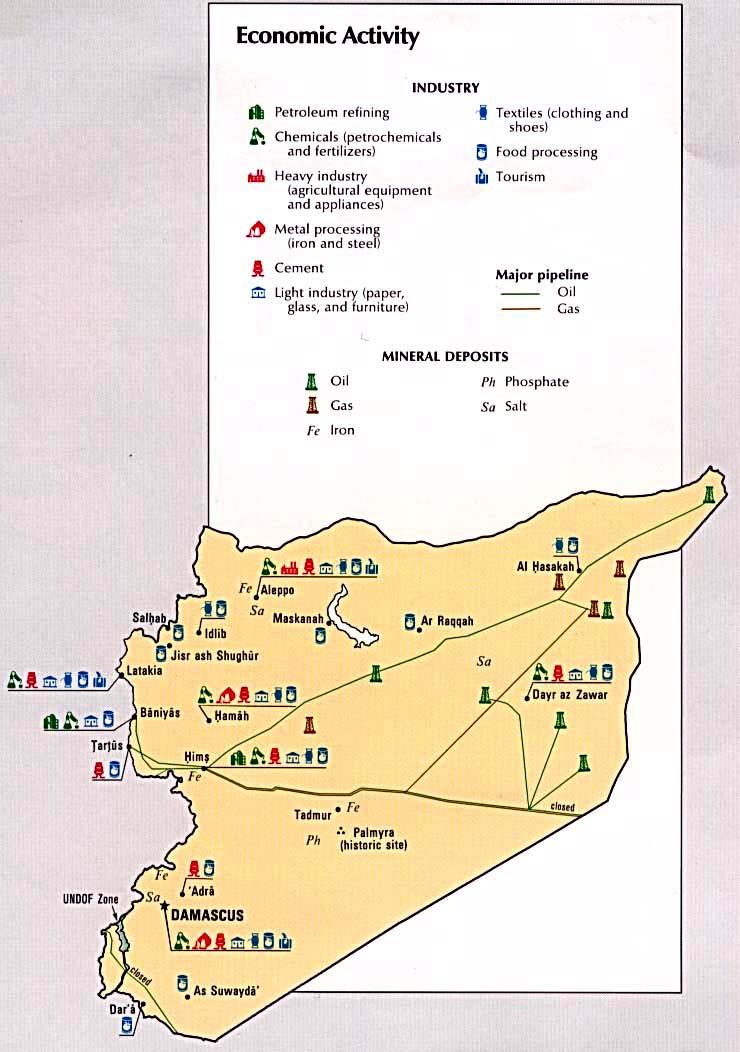 Mapa de la Actividad Económica de Syria