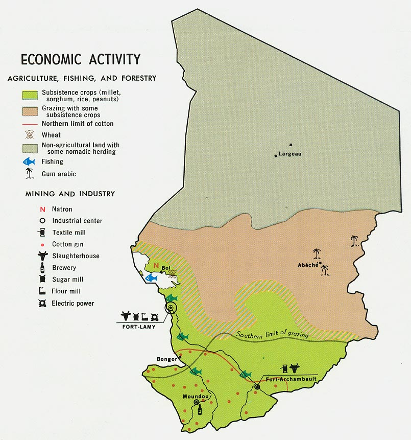 Chad Economic Activity Map