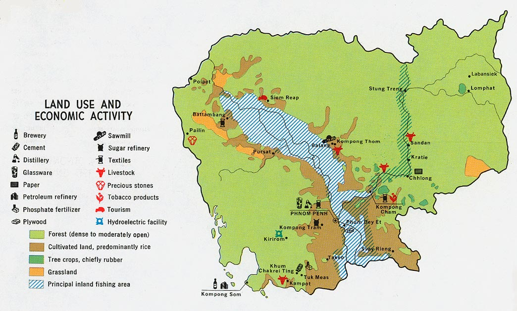Cambodia Economic Activity and Land Use Map