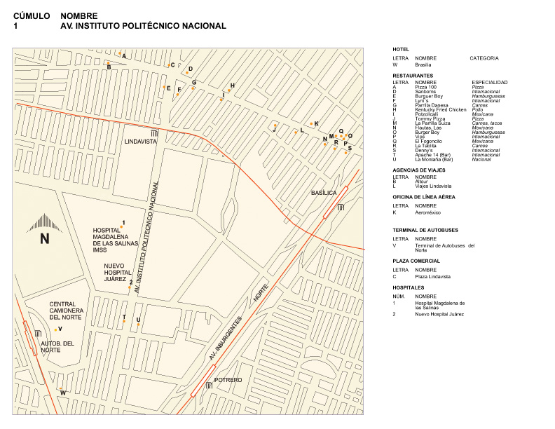 Map of Instituto Politécnico Nacional Avenue, Mexico D.F.