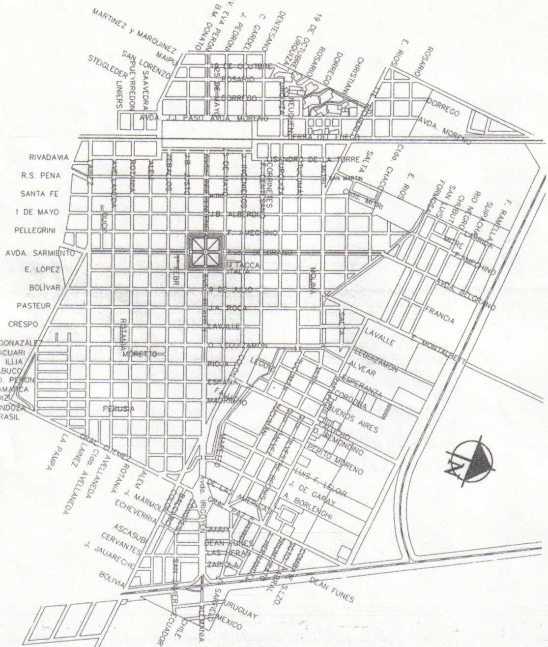 Sunchales Map, Santa Fe Prov., Argentina
