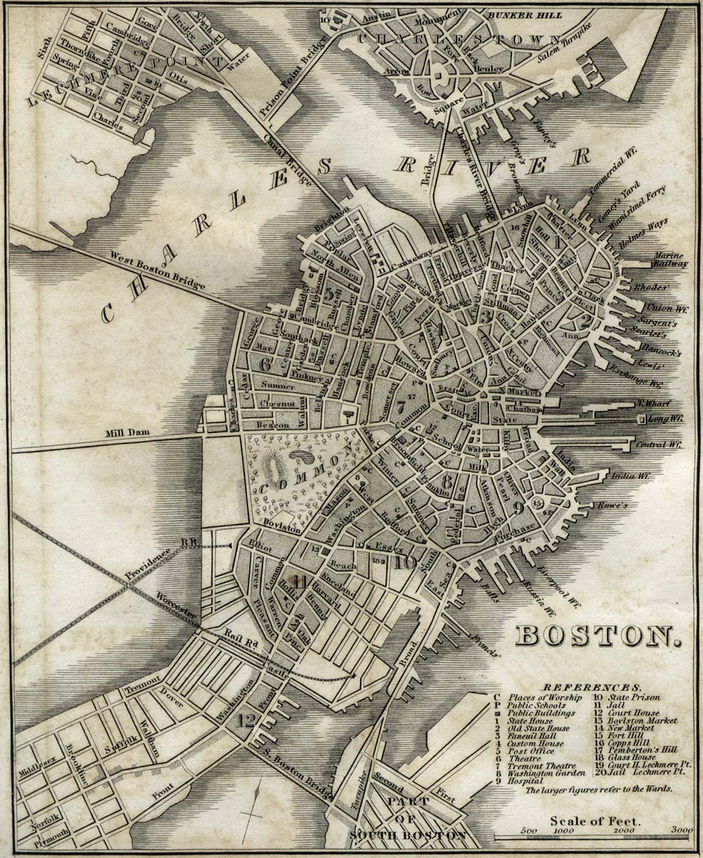 Boston City Map 1842