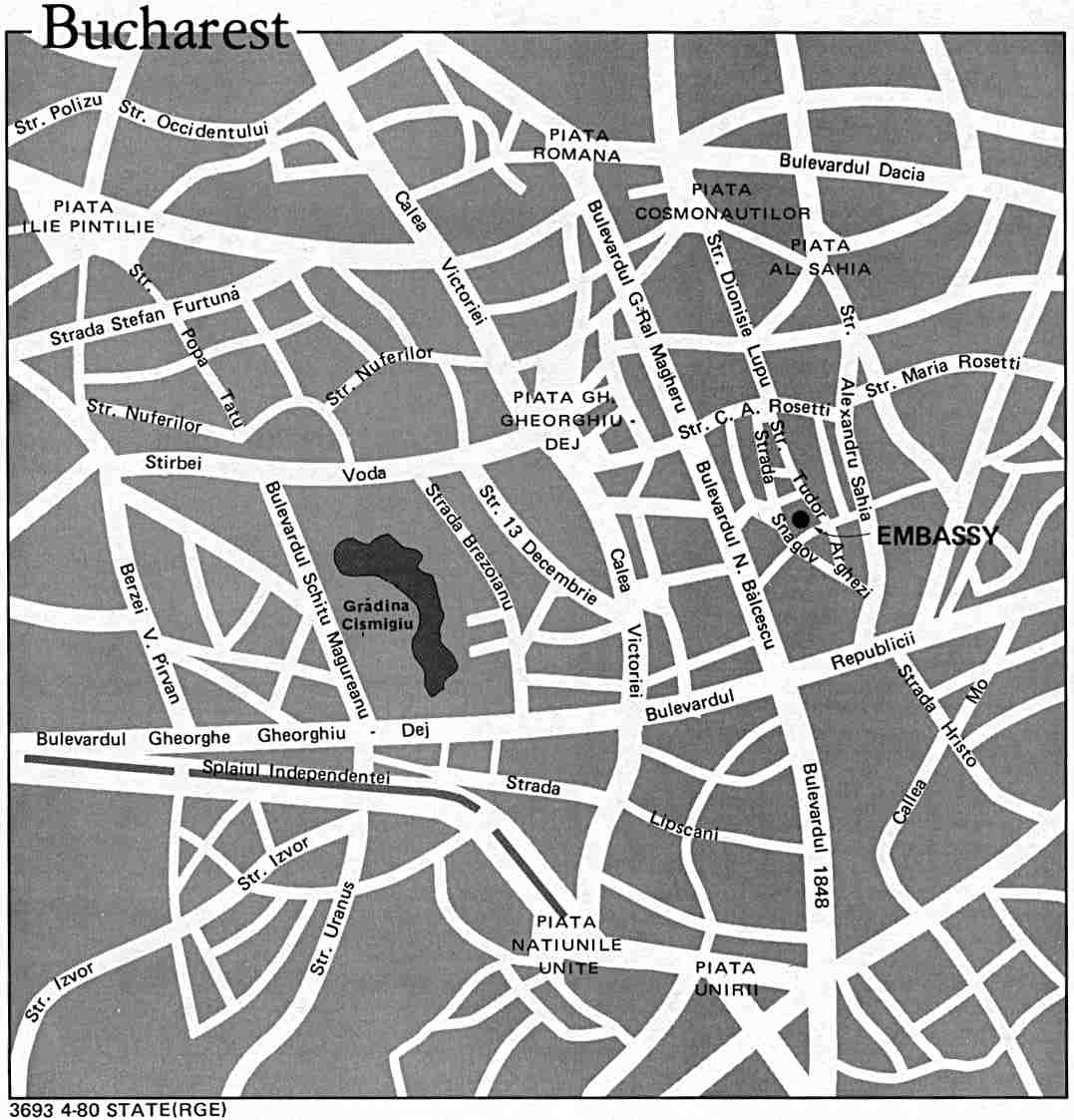 Bucharest City Map, Romania