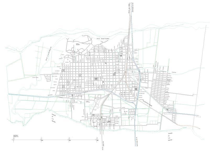Concepción City Map, Tucumán Prov., Argentina