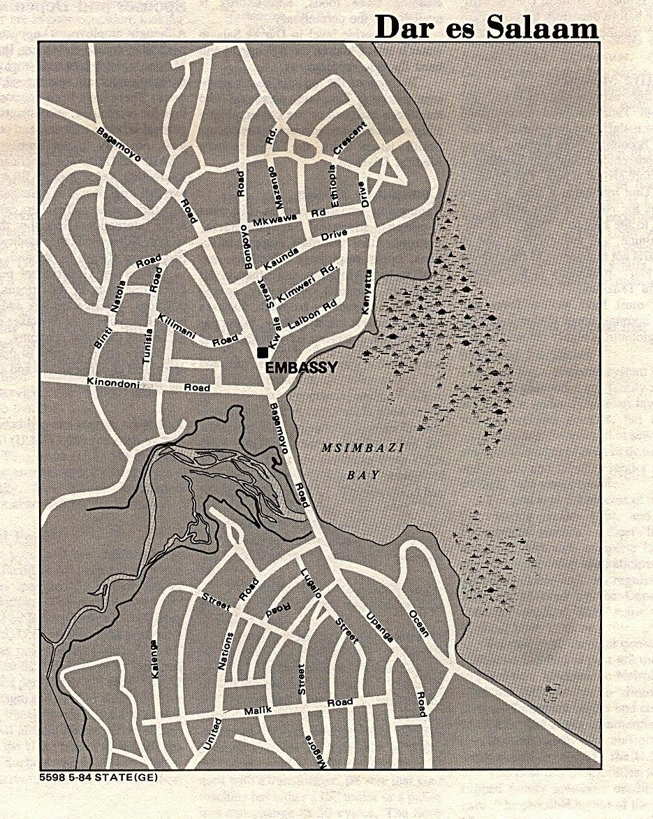 Mapa de la Ciudad de Dar es Salaam, Tanzania