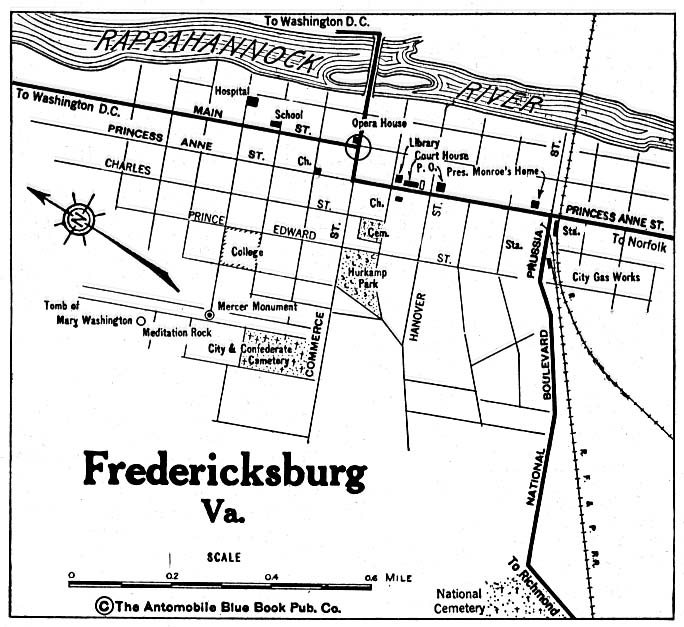 Fredericksburg (VA) United States  city pictures gallery : Maps of Fredericksburg City Map, Virginia, United States 1920 mapa ...