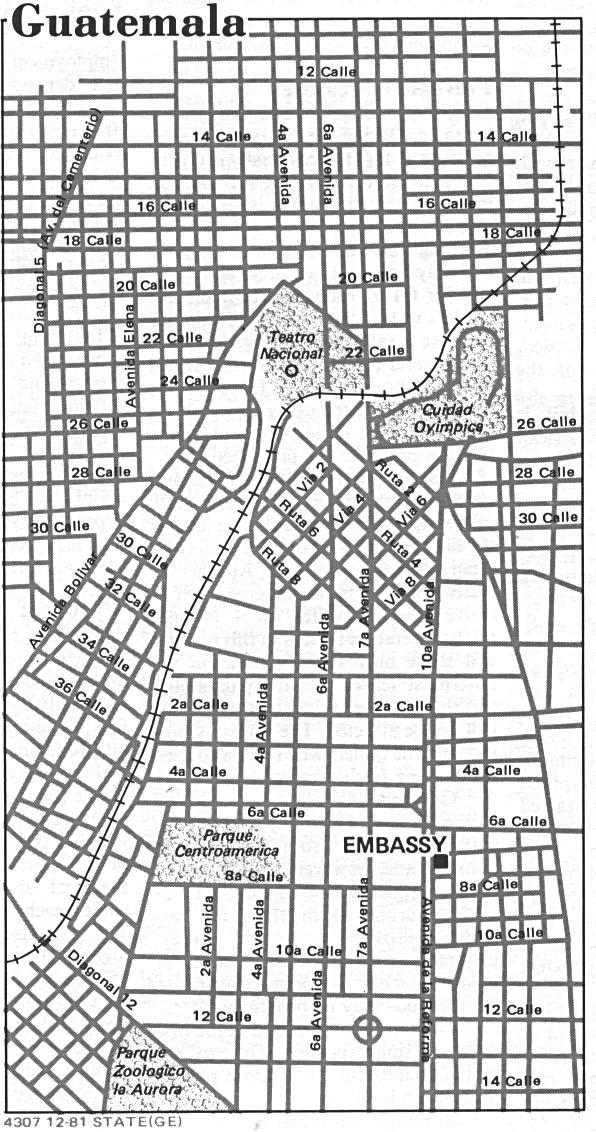 Guatemala City Map, Guatemala
