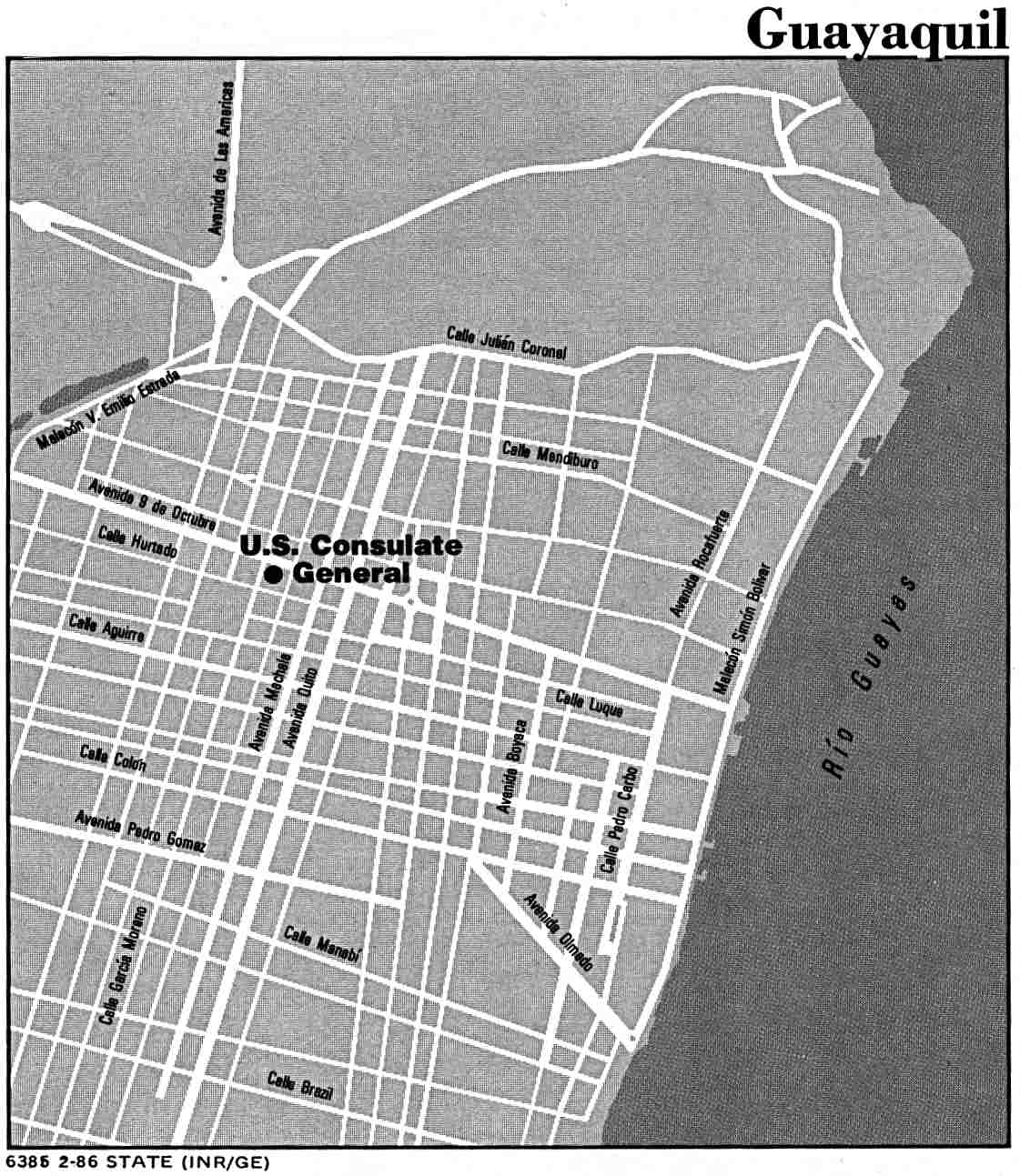 Mapa de la Ciudad de Guayaquil, Ecuador