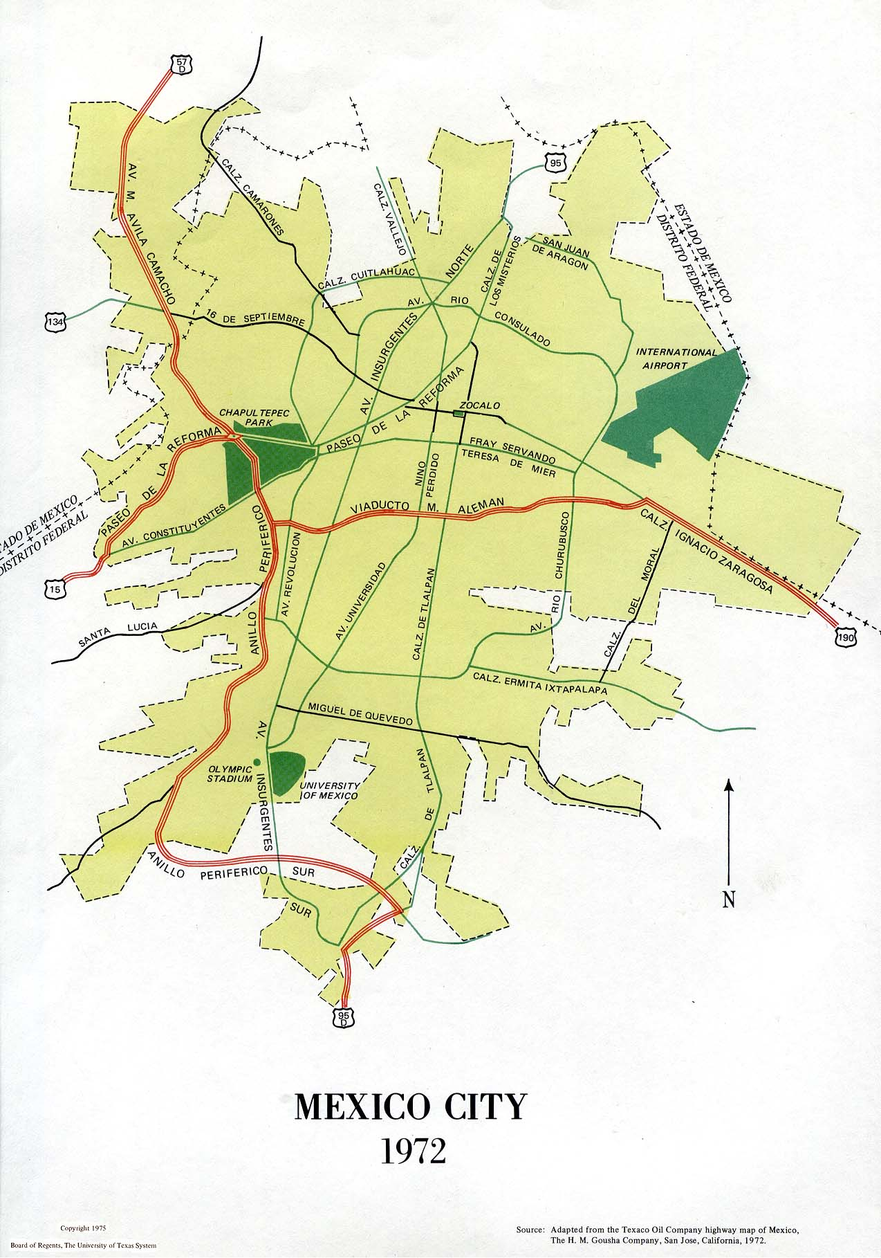Mexico City Map, Mexico