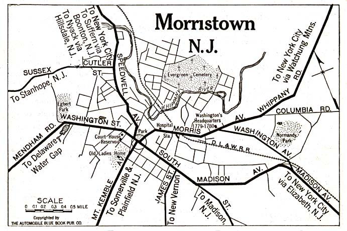 Mapa de la Ciudad de Morristown, Nueva Jersey, Estados Unidos 1920