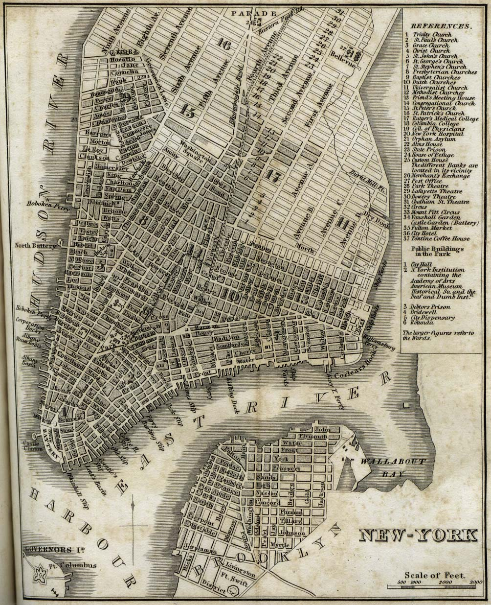 New York City Map 1842