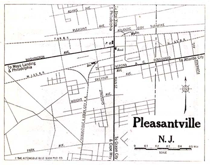 Pleasantville City Map, New Jersey, United States 1920