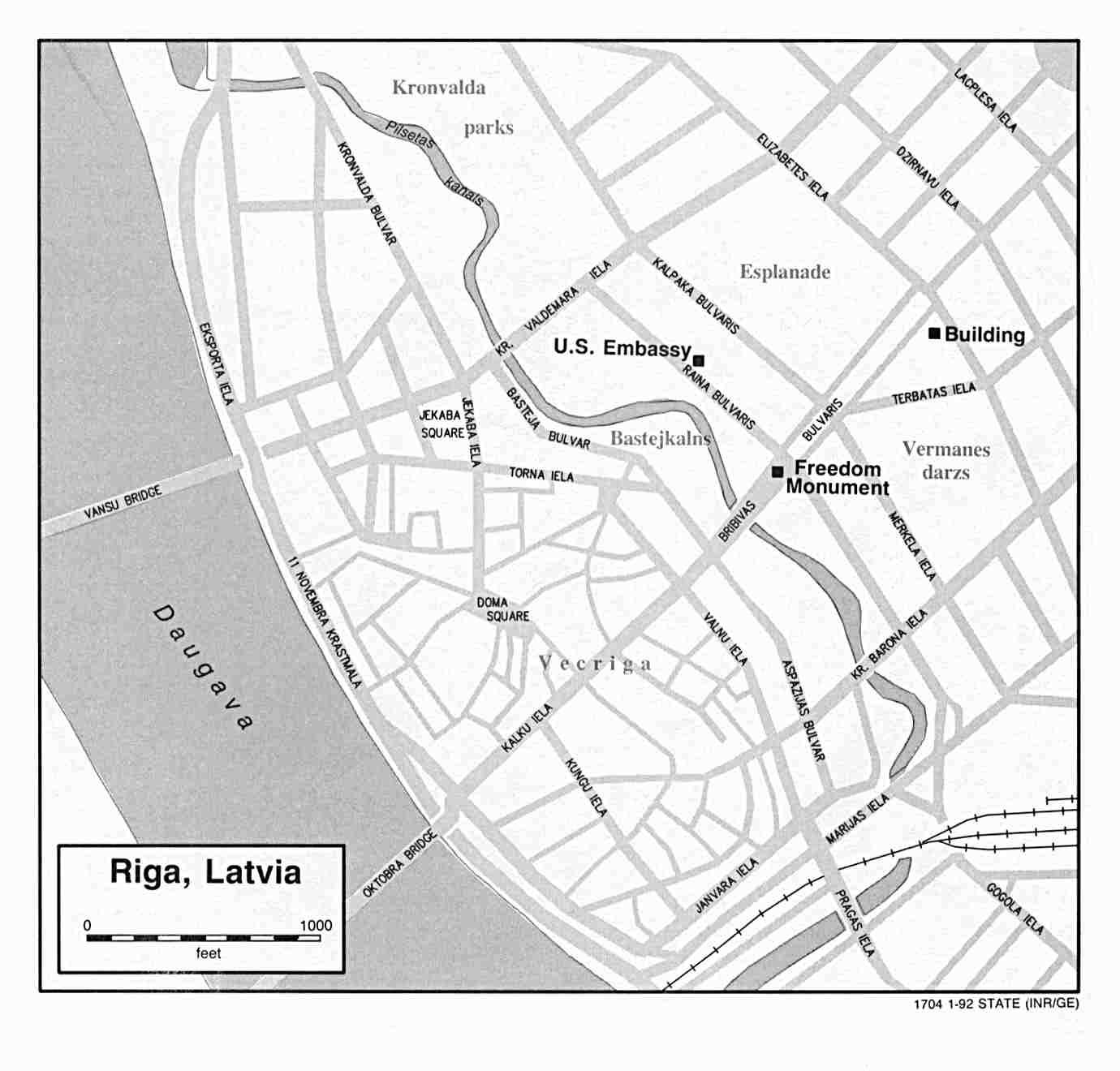Riga City Map, Latvia