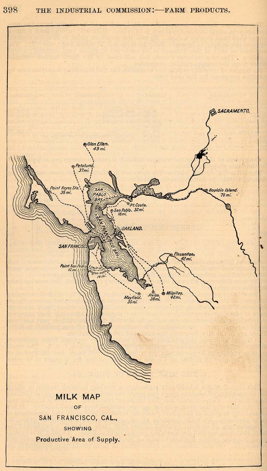 Mapa de la Ciudad de San Francisco, California, Estados Unidos 1901