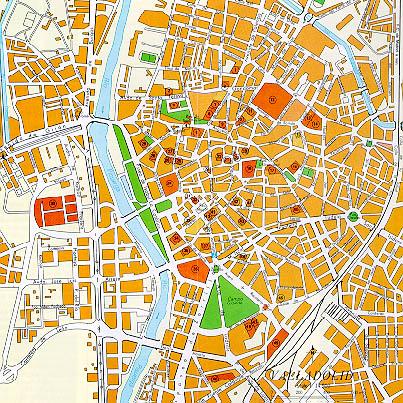 Mapa de la Ciudad de Valladolid, España