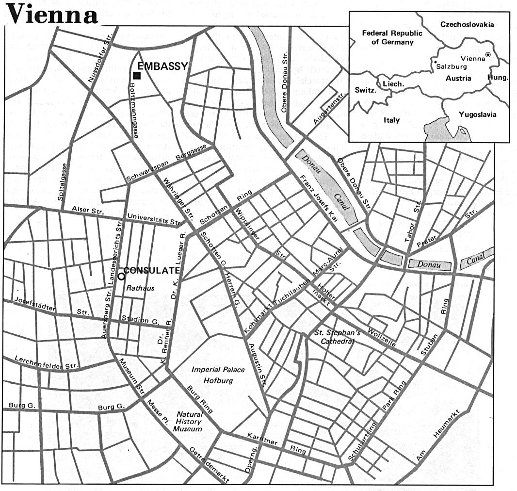 Vienna City Map, Austria